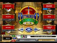 Arthurian Casino Lobby - This is Where You Pick Your Games and Download and Install More Casino Games