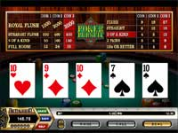Poker Persuit is a Poker Game where You Must Call or Raise before being dealth the 4th and 5th card.