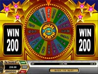 The SPIN Symbol on the 3rd Reel Will Win You a Spin at the Wheel of Fortune Wher You WIll Win from $20 to $1000 - Look How Close I was to Winning $1000 - But I had to Settle with winning $200