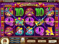 Carnival Slot - A Fun 9 Payline Slot with 5 Reels.
