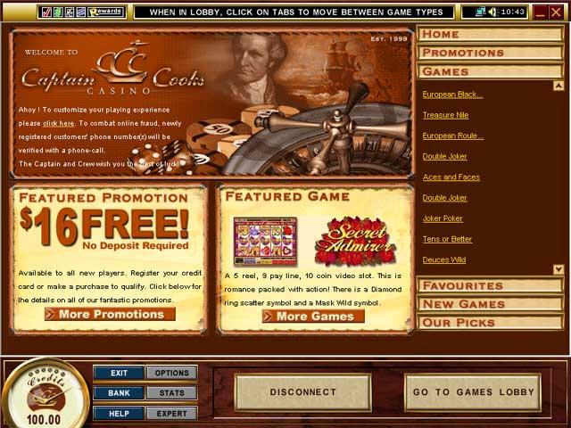 Captain cooks казино 500$ бездепозитный бонус продаю оборудование для казино б у