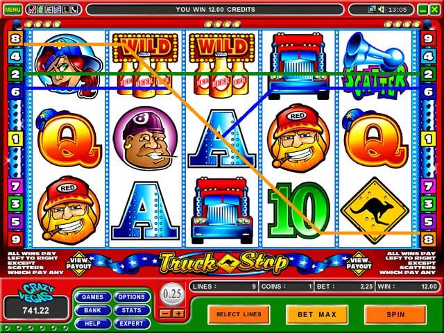 Jennings truck stop casino game online desert storm 2