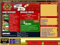 Golden Tiger Casino Lobby - Here You Can Find Information About Promotions and The Latest and Hottest Games