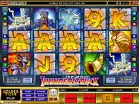Thunderstruck Slot - Bet from 1 cent to $45 per spin