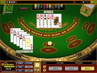 Cyberstud Poker is Microgamings Caribbean Stud Poker Game - Fold or Call on your Poker Hand ?