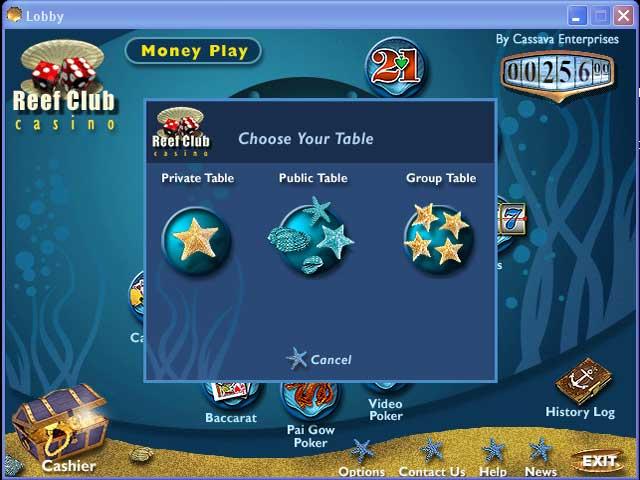 Reef Club Casino Flash