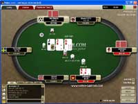 A Semi Bluff with a potential Straight Flush