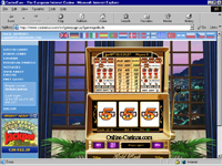 Gold Rush Slotmachine: Goldrush: A simple 3-reel slot with a progressive jackpot up for grabs!