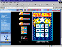 Starmania: Casino Euro's Scratch Card game.