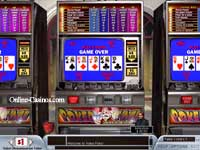 Jacks or Better Video Poker - A royal flush in video poker pays 4000 coins!