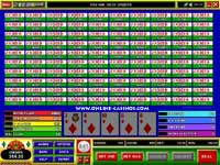 100 Hand Jacks or Better Video Poker Game