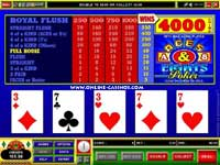 Aces and Eights Video Poker Slot