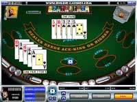 Caribbean Stud Poker Table @ First Web Casino