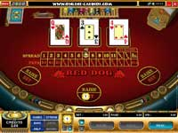 Red Dog Poker: Reddog shows off the classy graphics used at River Nile