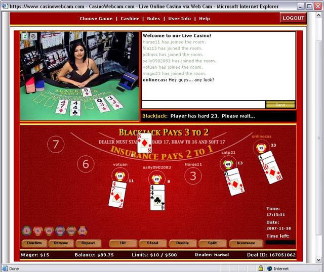 Online casino webcam casino television